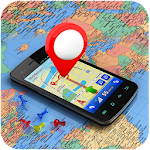 GPS Navigation,Maps Traffic Alerts Live Navigation Icon