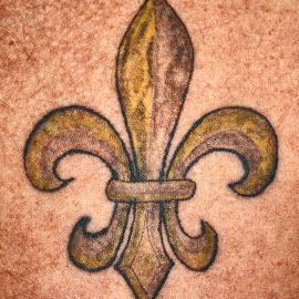 Let the Good Times Roll by Owen Rockett - People Body Art/Tattoos ( fleur, fleur de lis tattoo, body art, fleur de lis, tattoo )
