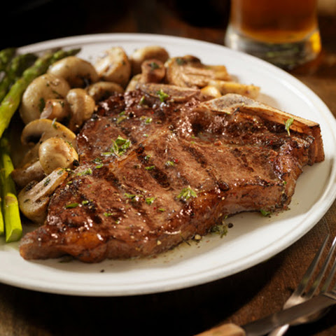 T-bone Steaks with Mushrooms