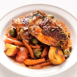 Braised Chicken Thighs with Olives and Potatoes