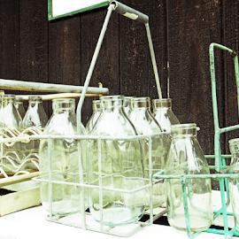 Milkbottles by Jo Soule - Food & Drink Alcohol & Drinks ( milk, glass, bottles,  )