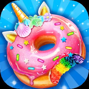 Unicorn Rainbow Donut - Sweet Desserts Bakery Chef For PC