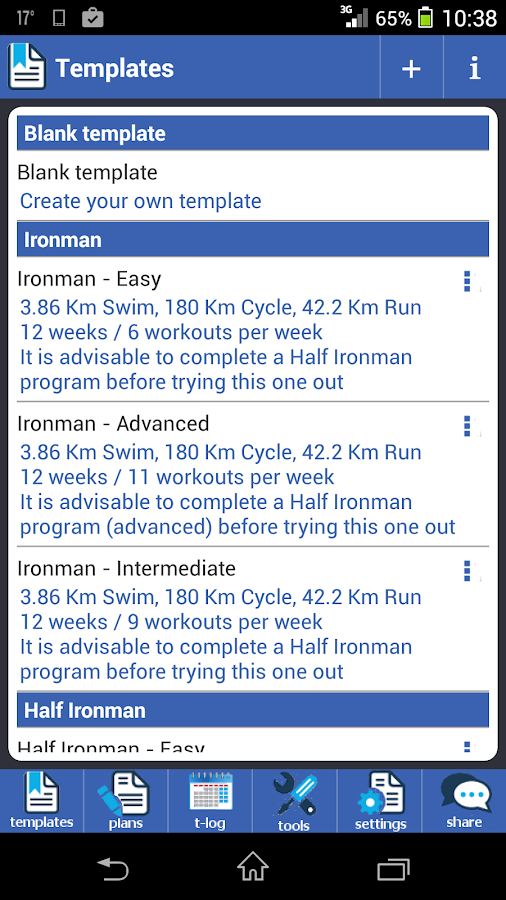 Megathlon Triathlon Training Screenshot
