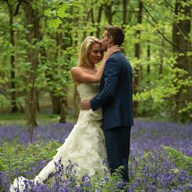 bluebell bride by Jim Edginton - Wedding Bride & Groom ( wedding, marriage, ceremony, bride, groom, bluebells )
