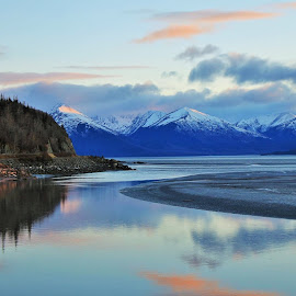 Turnagain Arm by Patricia Phillips - Landscapes Waterscapes ( alaska reflections turnagain-arm,  )