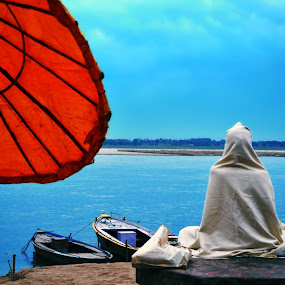 Sadhana by Abhay Srivastava - Landscapes Weather ( nature, beautiful, india, beauty, people, photography, river )