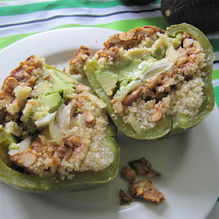 Spicy (Foil Baked) Stuffed Peppers