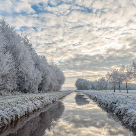 Mighty Winter by Martijn van Sabben - Landscapes Waterscapes ( clouds, winter, hdr, awesome, getolympus, cloudporn, morning, landscape, photography, olympus )