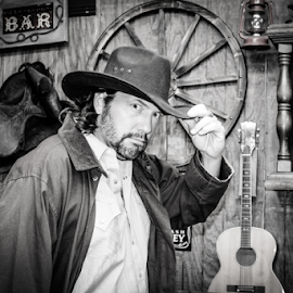 Howdy mam by Diane Davis - People Musicians & Entertainers ( cowboy, tv show, movie, musician, actor )