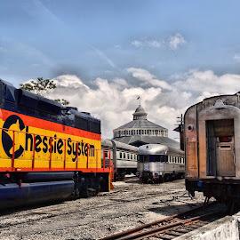 B&O Railroad Museum by Michael Lopes - Transportation Trains ( historic trains, baltimore, landscape, trains, train museum )