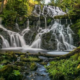 Röttle waterfall by Tomas Kullström - Landscapes Waterscapes ( röttle )