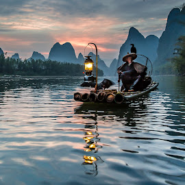 Li River by David Long - People Professional People ( li river, cormorant fisherman, guilin )