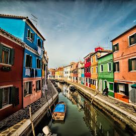 Burano canal by Jeffrey Genova - Landscapes Travel (  )