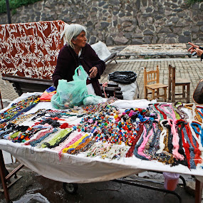 Old seller by Cristobal Garciaferro Rubio - City,  Street & Park  Markets & Shops ( artesania, old lady shop, pwcmarkets )