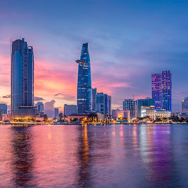 Ho Chi Minh across the Saigon River by Etienne Smit - Uncategorized All Uncategorized