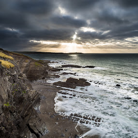 Sunset at the reefs by Jirka Vráblík - Landscapes Sunsets & Sunrises ( ireland, west cork, sunrise, seascape )