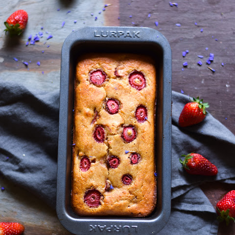 Gluten Free Banana, Peanut Butter And Strawberry Bread