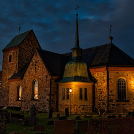 Evening church by Dan Westtorp - Buildings & Architecture Public & Historical