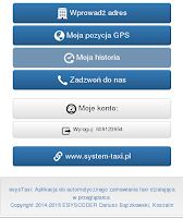 Screenshot of Mega Taxi Kraków