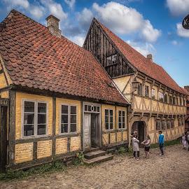 Den Gamle By by Ole Steffensen - City,  Street & Park  Street Scenes ( den gamle by, street, the old town, museum, denmark, aarhus )