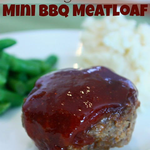 Light, Mini BBQ Meatloaf