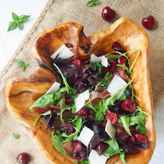 Crispy Proscuitto and Dark Cherry Salad with Balsamic