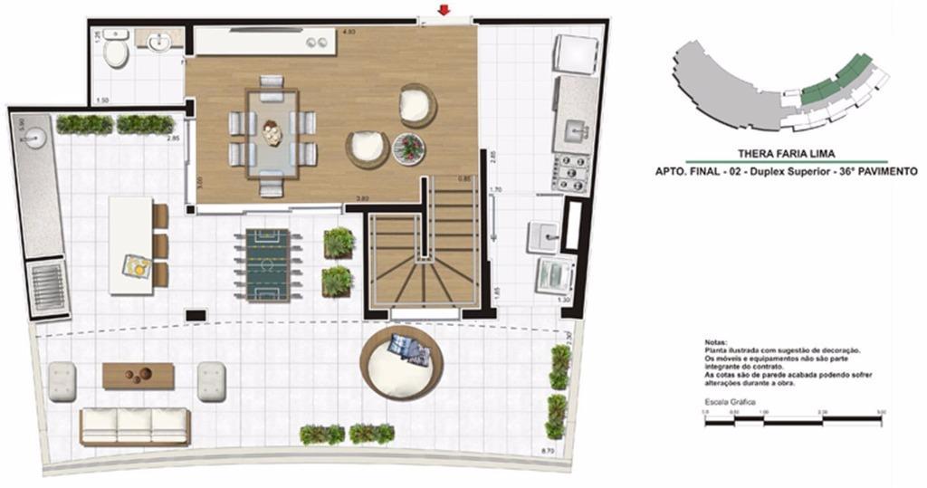 Planta Duplex Superior 138 m²