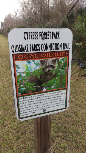 The Racoon Nature Trail Sign