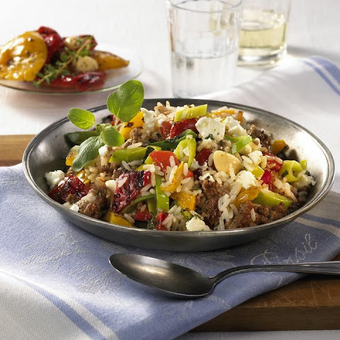 Lamb, Feta and Pepper Pilaf