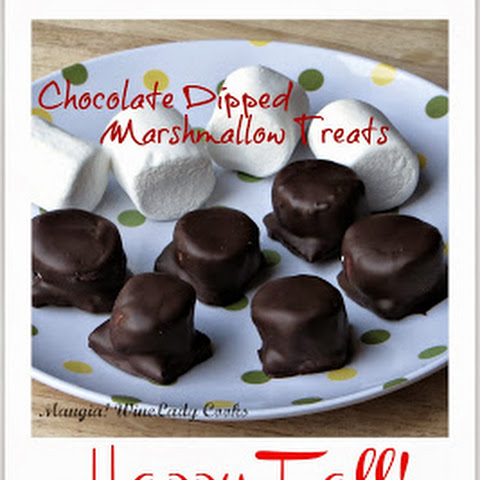 Chocolate Covered Marshmallow Treats
