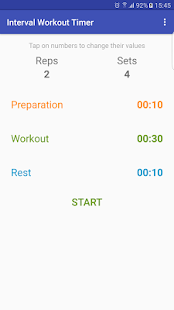 Interval Workout Timer Fitness app screenshot for Android