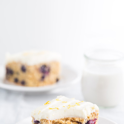 Whole wheat Blueberry lemon cake
