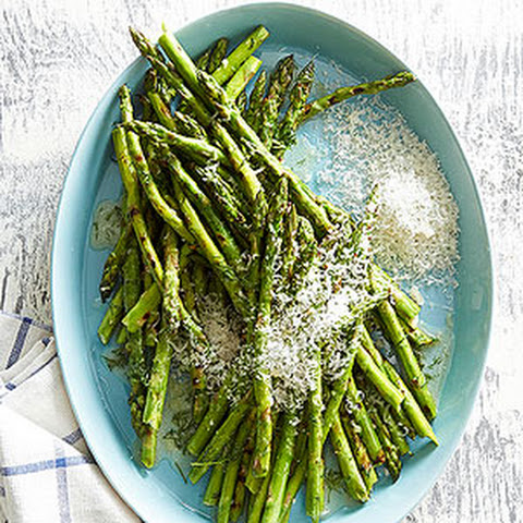 Grilled Asparagus in Dill Butter