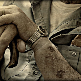 the things that made him Old Paw by Crystal Hulskotter - People Portraits of Men