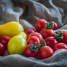 Cherry tomatoes by Marius Radu - Food & Drink Fruits & Vegetables ( red, fruits, yellow, tomato, summer )