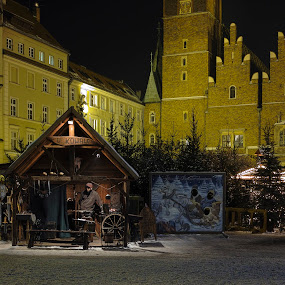 A blacksmith on Christmas Bazaar in Wroclaw, POLAND by Krzysiek Roznowski - Buildings & Architecture Architectural Detail ( blacksmith, sigma dp2m, market square, christmas bazaar, pwcdetails, wroclaw, poland )
