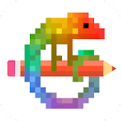 Pixel Art - Color by Number Icon