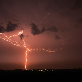 Summer Lightening by Alex Heimberger - Landscapes Weather ( lightning, pwc storm, weather, landscape )