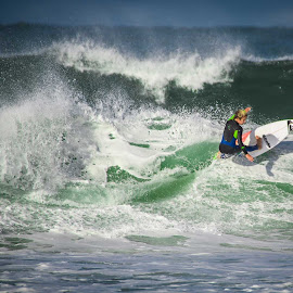 by Catherine Thuaux - Sports & Fitness Surfing ( may 2015, swell, surfing, surf board, australia, beach, surf, avoca beach )