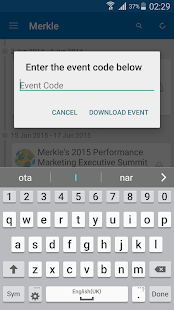 Merkle Events - screenshot