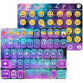 Galaxy Glitter Emoji Keyboard