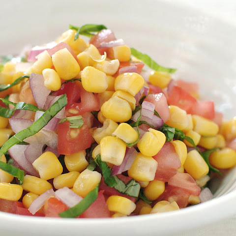 Sweet Corn, Tomato and Basil Salad