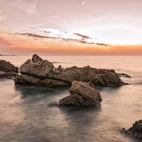 Rena Majori by Maurizio Mameli - Landscapes Waterscapes ( clouds, sky, sunset, sea, rock, seascape, landscape )