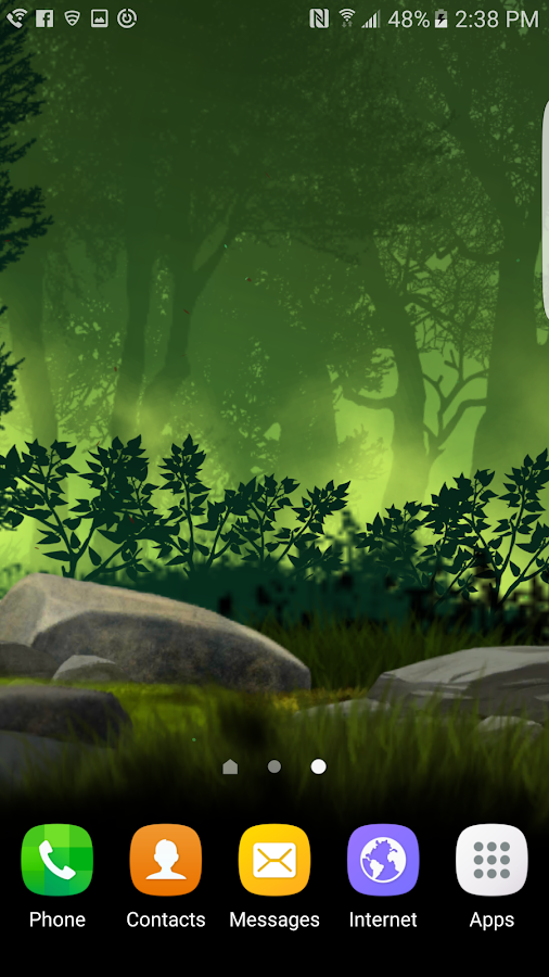 Fantasy Night Forest  Live WP Screenshot 3