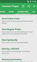Screenshot of Common Prayer