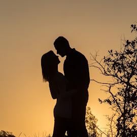 Silhouette by Lodewyk W Goosen (LWG Photo) - People Family ( family, silhouette, silhouettes, couple, people, couples )