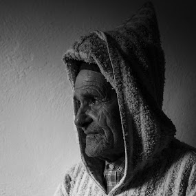 Abdeslam by VAM Photography - People Portraits of Men ( b&w, man, morocco, travel, berber, chefchaouen )