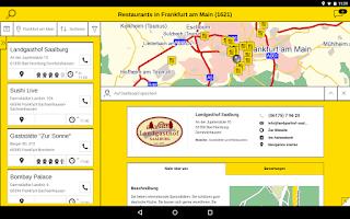 Screenshot of Gelbe Seiten