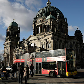 Berlin Street by Samuel Sitompul - City,  Street & Park  Street Scenes ( bus berlin, building, street, germany, tourism, berlin )