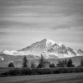 Mount Baker  by Todd Reynolds - Black & White Landscapes